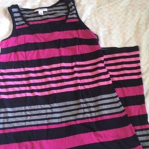 Motherhood striped maxi dress